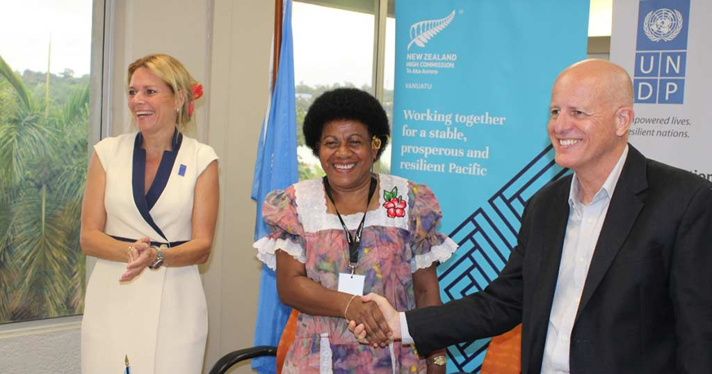 UNDP and NZ sign 5 million dollar partnership to support electoral processes in Vanuatu